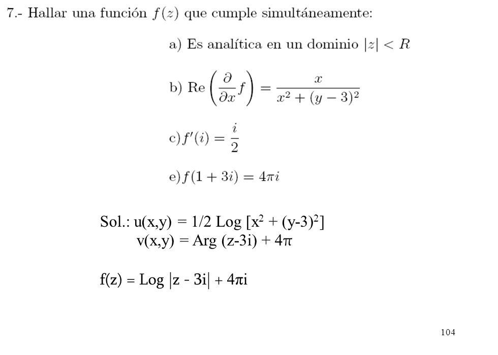 Sol.: u(x,y) = 1/2 Log [x2 + (y-3)2]